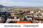 panoramic view of budapest.... | Shutterstock . vector #736644655