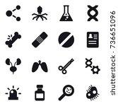 16 vector icon set   molecule ...   Shutterstock .eps vector #736651096
