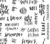 merry christmas hand drawn...   Shutterstock .eps vector #736651408
