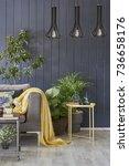 modern interior detail... | Shutterstock . vector #736658176