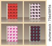 headdresses for women and book. ... | Shutterstock .eps vector #736658956