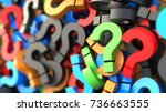 colorful question marks on... | Shutterstock . vector #736663555