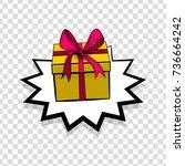 gift box birthday picture blank ...   Shutterstock .eps vector #736664242