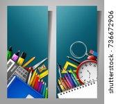 vector illustration of set of... | Shutterstock .eps vector #736672906