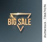 illustration of sale banner... | Shutterstock . vector #736674196