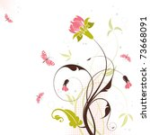 Decorative Floral Theme With...