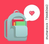 school bag vector illustration | Shutterstock .eps vector #736682662