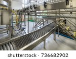 curved belt conveyors for... | Shutterstock . vector #736682902