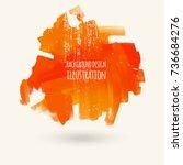 vector splats splashes and...   Shutterstock .eps vector #736684276