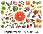 concept ofconcept of healthy... | Shutterstock . vector #736684666