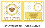 baby shower cute card. vector... | Shutterstock .eps vector #736686826