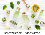 home made spa cosmetic with tea ...   Shutterstock . vector #736693966