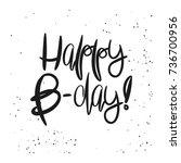 creative happy birthday card... | Shutterstock .eps vector #736700956