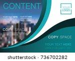 presentation layout design... | Shutterstock .eps vector #736702282
