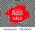 black friday sale banner... | Shutterstock . vector #736706545