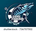 vector illustration of a wahoo  ... | Shutterstock .eps vector #736707502