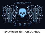 future technology.... | Shutterstock .eps vector #736707802