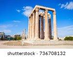 the temple of olympian zeus or...   Shutterstock . vector #736708132