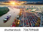 logistics and transportation of ... | Shutterstock . vector #736709668