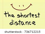 the smile is the shortest...   Shutterstock . vector #736712215