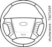 car steering wheel line art | Shutterstock .eps vector #73671439