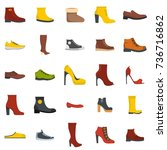 footwear shoes icon set... | Shutterstock .eps vector #736716862