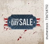 veterans day sale greeting... | Shutterstock .eps vector #736718752