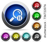 pause search icons in round... | Shutterstock .eps vector #736722076