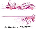 floral background with ornament ...
