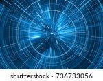 time warp  traveling in space.... | Shutterstock . vector #736733056