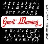 vector set of handwritten... | Shutterstock .eps vector #736742596