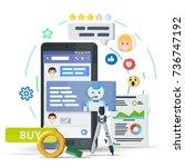 chatbot business concept.... | Shutterstock . vector #736747192