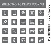 20 electronic device icon set... | Shutterstock .eps vector #736751992