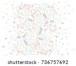 abstract background for... | Shutterstock .eps vector #736757692
