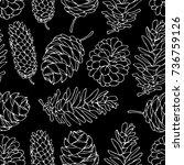 cones vector illustration. drop ... | Shutterstock .eps vector #736759126