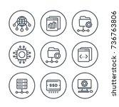hosting  networks  ftp  servers ... | Shutterstock .eps vector #736763806