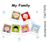 pictures of the entire family | Shutterstock .eps vector #73677070
