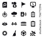 16 vector icon set   search...