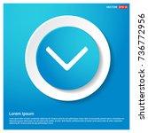 down arrow icon | Shutterstock .eps vector #736772956