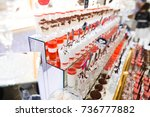 delicious sweets on wedding... | Shutterstock . vector #736777882