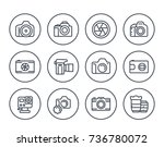 camera  photography line icons... | Shutterstock .eps vector #736780072