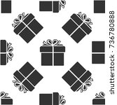 gift box icon seamless pattern... | Shutterstock .eps vector #736780888