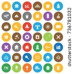 house icons | Shutterstock .eps vector #736781032