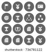 winner icons | Shutterstock .eps vector #736781122