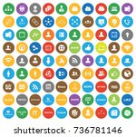 network icons | Shutterstock .eps vector #736781146