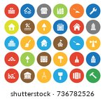 building icons | Shutterstock .eps vector #736782526