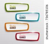 vector banners set  | Shutterstock .eps vector #736785106