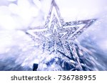 shiny star. christmas or new... | Shutterstock . vector #736788955