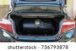 gas tanks are installed in a... | Shutterstock . vector #736793878