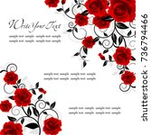 wedding card or invitation with ... | Shutterstock .eps vector #736794466